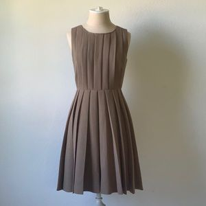 J. Crew wool blend lined pleated dress